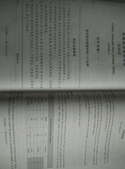 全国英语等级考试历年真卷详解·第四级(2016年版) 晒单图