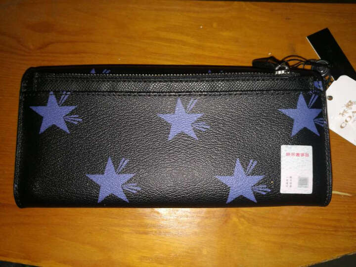 COACH 蔻驰 女款黑色PVC长款钱包 53568 QBE2C (F53568 QBE2C) 晒单图