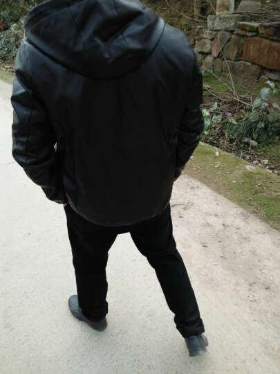 杰森迪亚 夹克男春款潮修身型立领男士机车pu皮衣休闲外套男装 咖啡薄款 L 晒单图