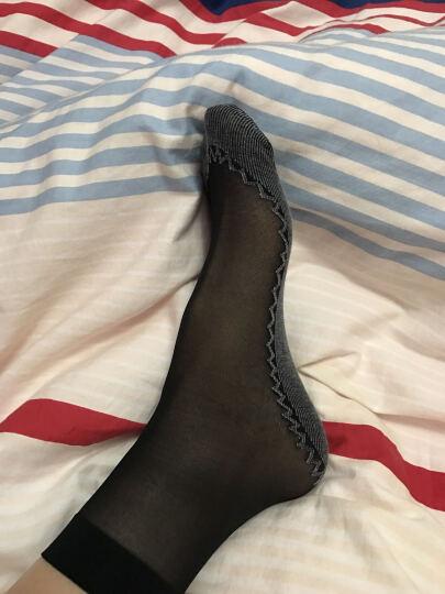 梦娜10双 夏季短丝袜女式包芯丝棉底丝袜 防滑防钩丝耐穿吸汗透气袜袜子女 黑色5双+肤色5双 均码 晒单图