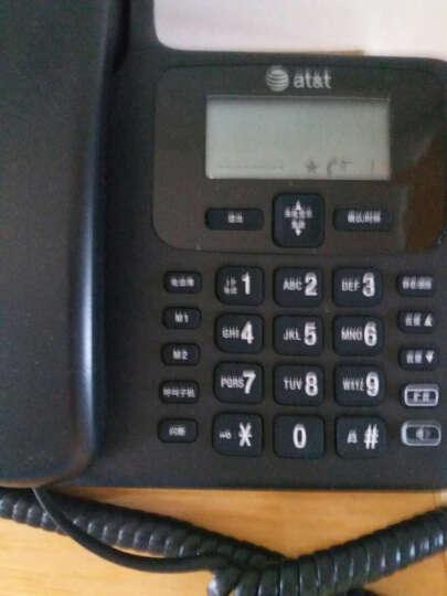 AT&T 34109  数字无绳子母机  家用办公 电话机 有线固定老人机 黑色一拖一 晒单图