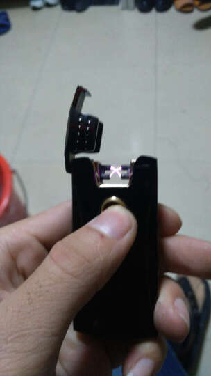 jobon中邦双电弧打火机USB充电打火机防风金属脉冲创意个性电子点烟器正版 不用煤油气体 双电弧金冰 晒单图