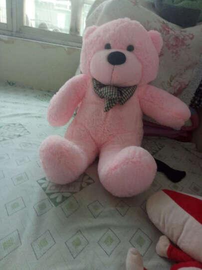 大号毛绒熊爱心围巾泰迪熊公仔女朋友生日礼物女生送女友毛绒玩具熊 深棕红白毛衣丝带熊 80厘米 晒单图