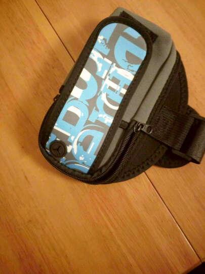 加加林 运动手机臂包手腕包跑步包 登山臂带跑步臂袋 手臂包袋 潮字母 蓝色大号 晒单图