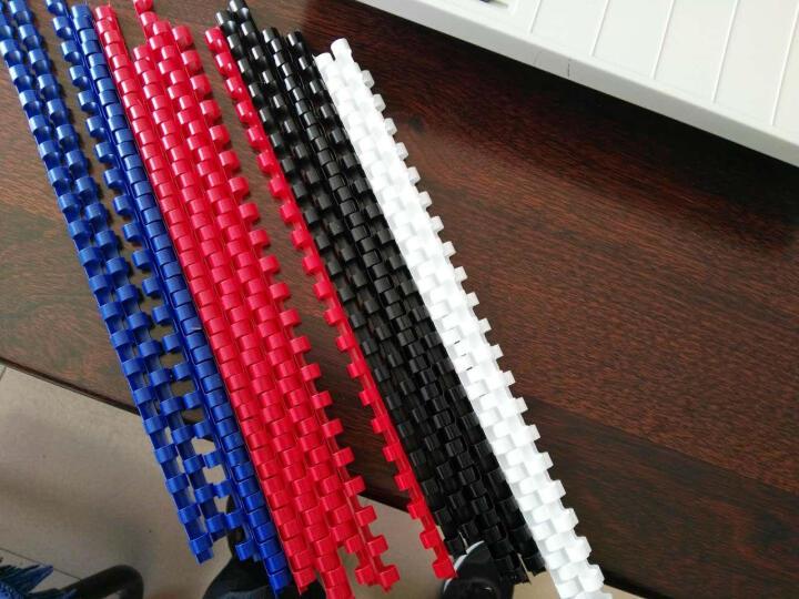 ECHO 爱可21孔梳式装订机装订环/胶圈/装订耗材装订胶圈黑白蓝红四色 文本合同文件装订耗材 红色 8mm/100支 晒单图