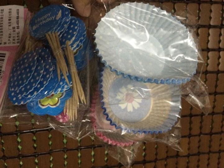 杰凯诺烘焙配件高温油纸杯卡通竹签3小包共72纸杯加72竹签 马芬蛋糕纸杯 颜色随机 晒单图