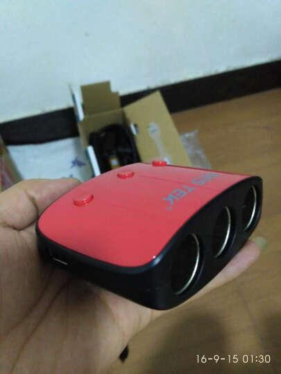 百事泰(Bestek)一拖三点烟器带开关 车载充电器扩充器双USB 一分三车充插座 汽车电源分配器 中国红 赠保险丝 晒单图