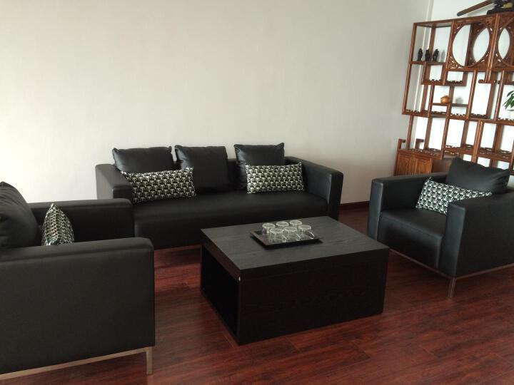 轻嵩北京办公家具办公沙发休闲沙发会客沙发接待休闲沙发多色可选 西皮单人位 晒单图