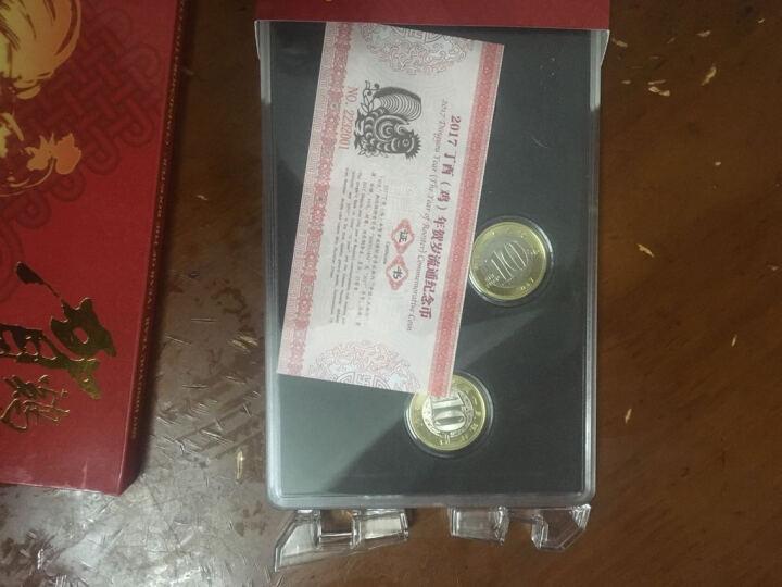 灿网藏品  2017年鸡年纪念币 生肖贺岁鸡币 10元面值双色流通纪念币 5枚盒装含币 黑内衬 晒单图