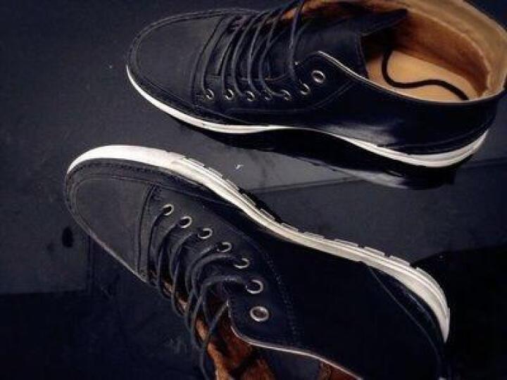 班尼咔咔 马丁靴男靴子男士短靴冬季保暖棉鞋高帮男雪地靴 205黑色【不加绒】 39标准码 晒单图