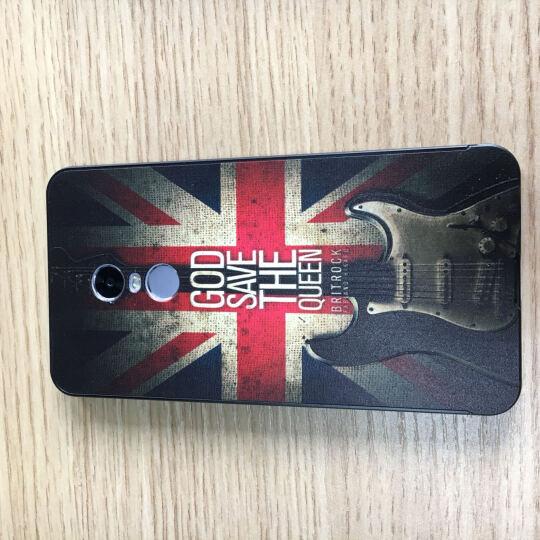卓优美 红米note4手机壳保护套金属边框后盖 适用于红米note4 黑边吉他+钢化膜 晒单图