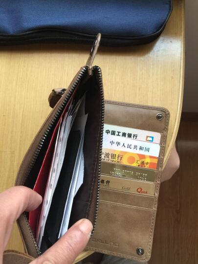 BROWNEFOX女士钱包牛皮真皮长款手拿包多功能韩版潮流卡包手机包 BF-NB6039 6039女款胭脂粉 晒单图