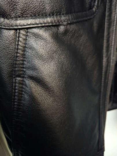 柏恩赫斯特价新款海宁男士真皮皮衣男装 牛皮羽绒服皮衣 短款夹克羊羔毛领冬装外套NR-73 黑色 170/L 晒单图
