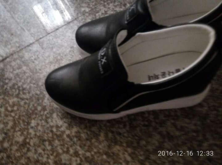 歌山品悦女鞋新款内增高韩版休闲鞋女单鞋女 白色 37 晒单图
