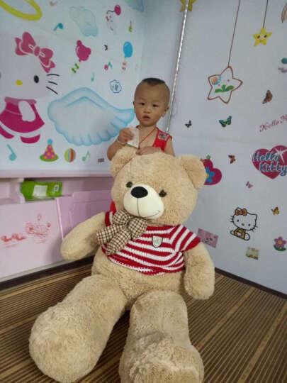 蒙格格毛绒玩具熊1.6米大号泰迪熊公仔布娃娃抱抱熊抱心熊大熊抱枕玩偶生日礼物女 粉色-一生有你 160厘米 晒单图