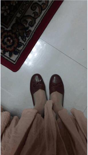 奥康女鞋 女单鞋 蝴蝶结舒适软底鞋 甜美鞋 秋季浅口舒适女单鞋133118273 黄棕色133118276 36 晒单图