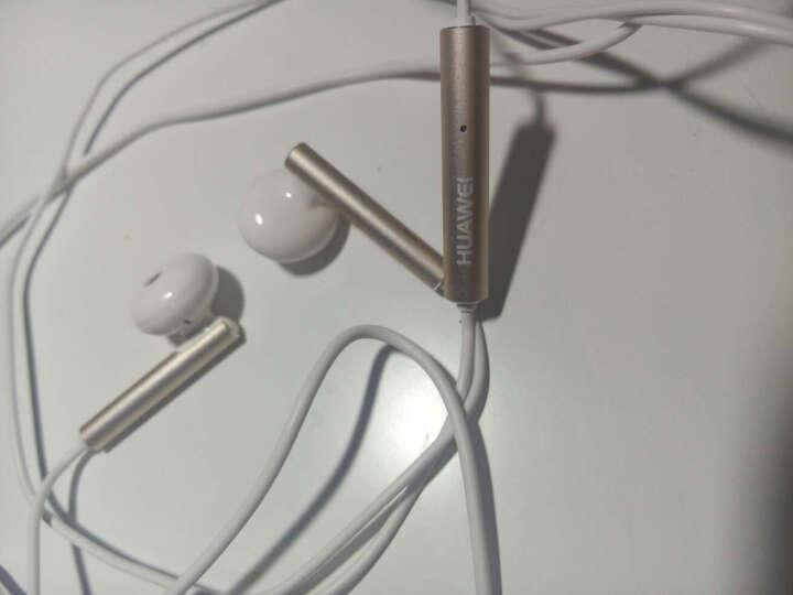华为(HUAWEI)原装耳机 三键线控 带麦克风 半入耳式耳机 原装手机耳机 白色 金属版 AM116 晒单图