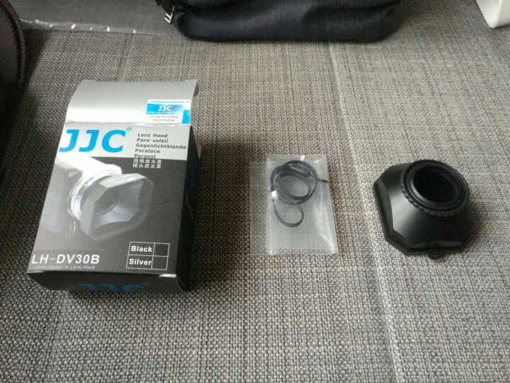 JJC 摄像机DV机方形遮光罩遮阳罩 适用索尼SONY佳能松下JVC三星 含镜头盖和挂绳 适用30mm滤镜直径DV机数码摄像机 晒单图