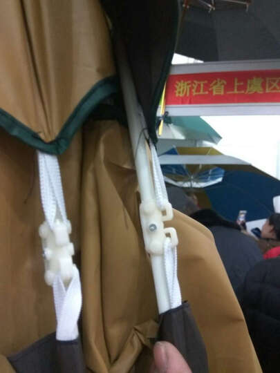 PTSON/百田森 新款冬季高跟防水台粗跟拉链尖头时尚牛皮短靴女 黑色 38 晒单图