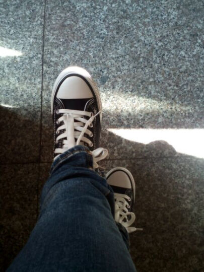 蓓尔内增高帆布鞋女鞋低帮韩版女鞋子板鞋学生鞋休闲鞋子女士厚底松糕鞋白色布鞋小白鞋平底单鞋女 819-618黑色 35 晒单图