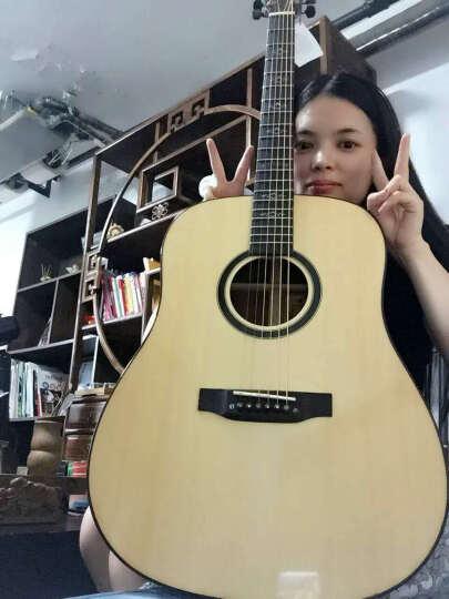 宾德(BINder) 【顺丰配送】民谣吉他 41寸单板缺角木吉他乐器 原木色吉它终生维修 W系列 W-5 晒单图