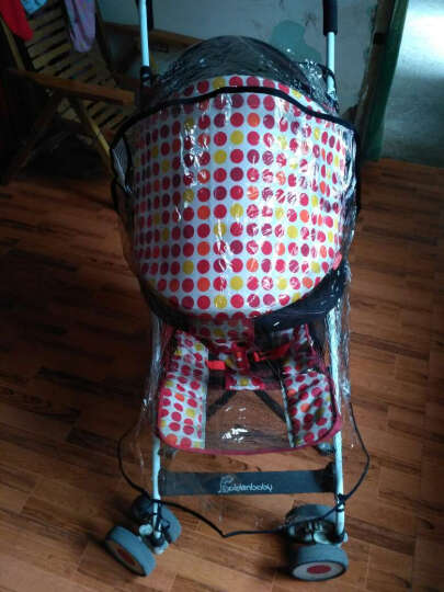Bair婴儿推车 超轻便携伞车 可坐可躺高景观婴儿车儿童推车四轮避震童车 珊瑚红提篮版 晒单图