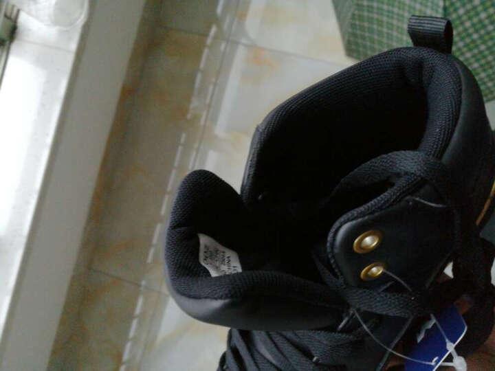 美特斯邦威春男高帮板鞋男舒适高帮时尚板鞋202145 白色组 255mm(41) 晒单图