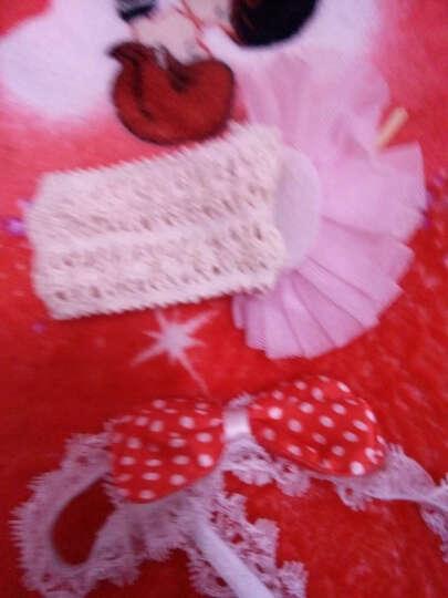 小西家作 买一送一韩国头花发饰蕾丝儿童发带发箍宝宝公主头饰婴儿头花女童头饰 T红色蕾丝 晒单图