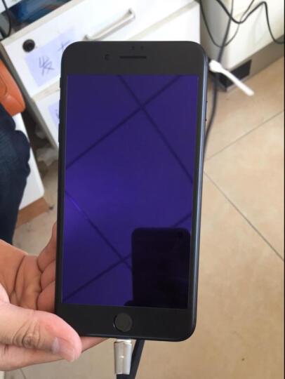 飞创 苹果7/8钢化膜iPhone7Plus全屏全覆盖3D抗蓝光防爆手机玻璃保护贴膜 7/8Plus★象牙白【软边蓝光版】 晒单图