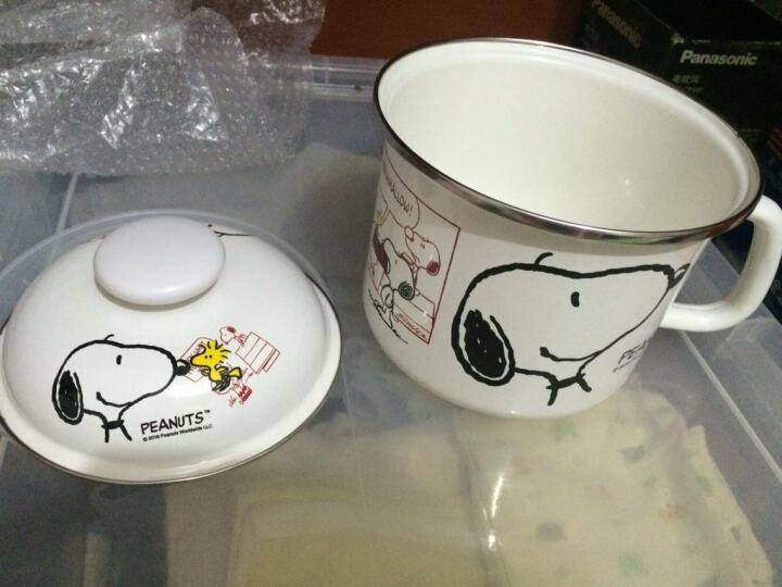 易家宜 变色杯白头到老搪瓷杯茶杯子带盖大号卡通水杯马克杯泡面碗可加热快餐杯水果碗9cm 白头偕老一对装 晒单图