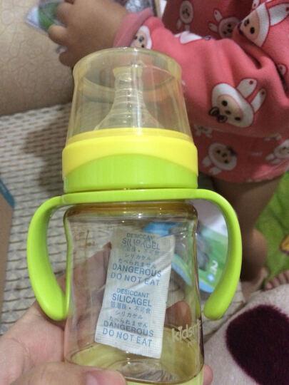 亲亲我(kidsme)感温奶瓶 宽口径PPSU新生婴儿奶瓶带吸管手柄160ML(黄) 晒单图