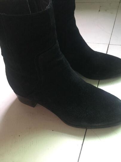 Joy&Peace/真美诗冬季专柜同款女皮靴ZN623DZ5 灰黑色 35 晒单图