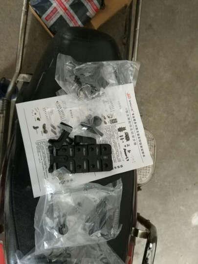 SMNU十玛摩托车手机支架对讲机苹果三星小米踏板车电瓶车山地车铝合金车载USB充电器装备 U型车把安装底座充电版 晒单图