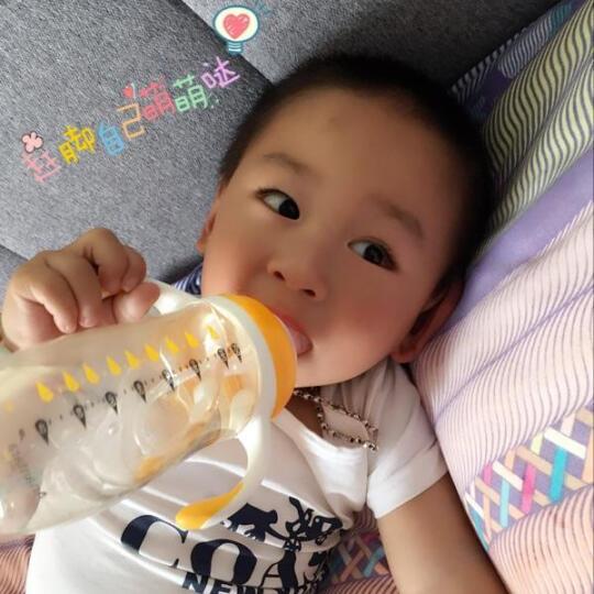 恩诺童 美豆婴儿奶瓶 进口PPSU带手柄吸管奶瓶宽口径奶嘴防胀气母婴储奶瓶宝宝防摔 200ML绿色(L奶嘴6个月以上适用) 晒单图