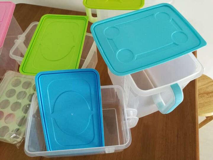 百露 可叠加厨房密封罐 带手柄收纳盒 冰箱橱柜带盖储物箱米桶 加厚黑色 晒单图