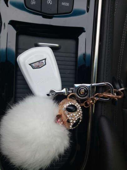 LUCKEASY 凯迪拉克钥匙包XTS ATSL CT6 CTS钥匙壳汽车改装钥匙套 C款白色带公仔 晒单图
