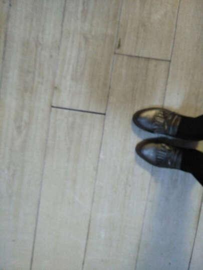 卡罗缇女鞋单鞋女子新款2017秋冬新款百搭韩版高跟鞋粗跟单鞋深口防水台布洛克女休闲鞋子 枪色 39 晒单图
