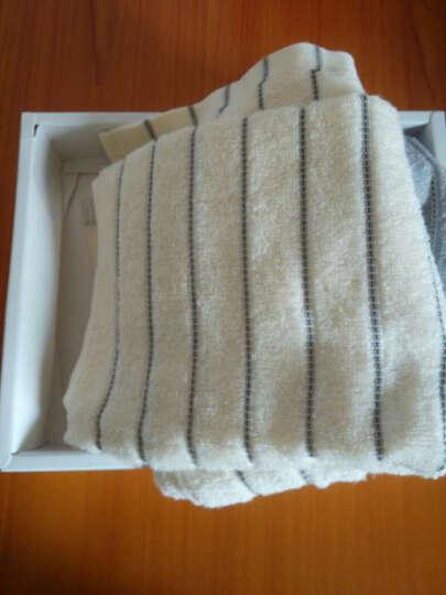 金号毛巾礼盒 纯棉条纹面巾2条装1809 1809大红色礼盒 2条装+礼盒 晒单图