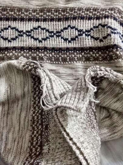 益帛 针织衫毛衣男2018春季新款简约纯色修身多色韩版男士打底衫NM751 752卡其加绒 XL 晒单图