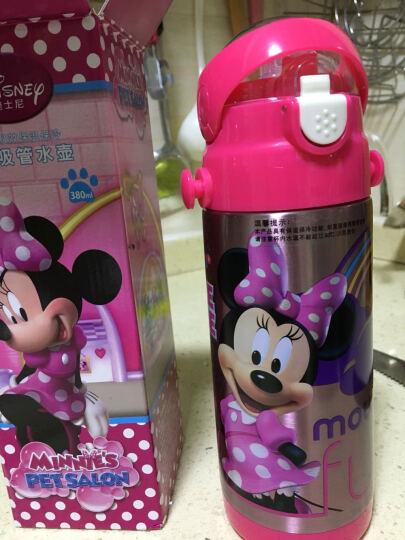 迪士尼(Disney) 迪士尼不锈钢儿童保温杯带吸管保温水壶水杯 男童女童便携学生保温瓶 米妮粉380ML 双盖(吸管盖+直饮盖+杯套) 晒单图