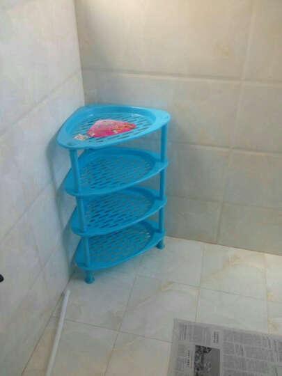 佳家达 浴室置物架 卫生间脸盆架洗手间厕所塑料储物收纳层架 三角落地架子 乳白色B加大号三角形实板 晒单图