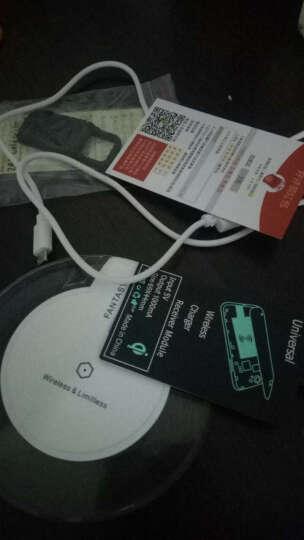Coiorvis 手机无线充电器 适用iPhoneX/8/7/6s/plus/苹果安卓通用 白色底座+安卓反向接口 晒单图