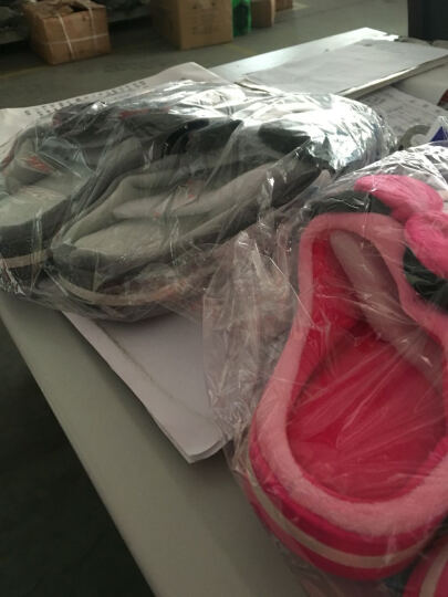 和居家  迪士尼儿童棉拖鞋冬季男童女童家居家用室内棉鞋包跟 B款-粉红 43/44(标准码) 晒单图