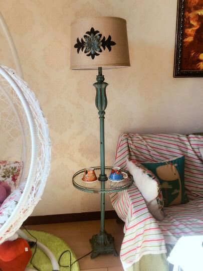 费芮嘉 欧式美式乡村落地台灯 创意客厅卧室书房装饰落地灯 样板房别墅立式台灯具 玻璃盘款 晒单图