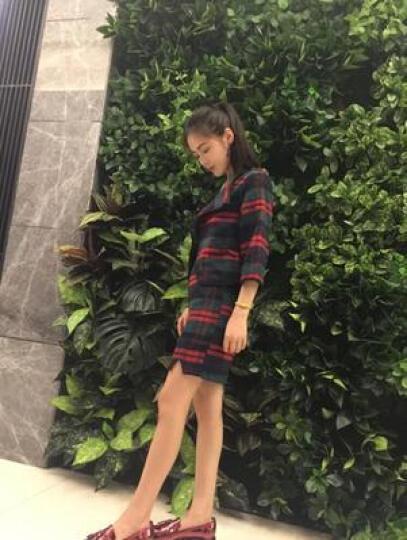 ZZ&FF 套装裙2017秋装新款韩版时尚女装修身显瘦短外套上衣+半身裙连衣裙女 6009 绿色套装 S  建议80-90斤 晒单图