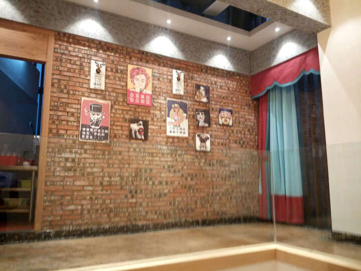 时光巴士 创意客厅装饰画餐厅挂画墙上装饰品酒吧铁皮画壁挂墙饰 拿铁横款 晒单图