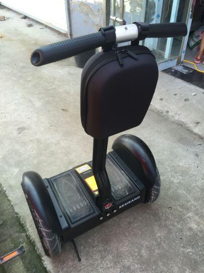 科思康电动平衡车两轮 智能成人儿童体感车代步思维漂移车 双轮自平衡带扶杆把手沙滩巡逻车 17英寸+36V锂电城市款(黑色) 晒单图