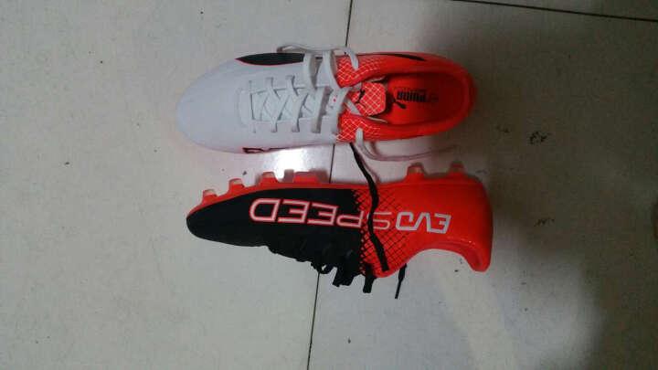 彪马/PUMA evoSPEED 4.5AG TRICKS 男子草地 足球鞋 103600 白色-黑色-亮橘色04 42 晒单图