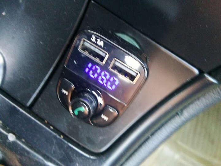 现代车载蓝牙MP3音乐播放器车载mp3汽车点烟器FM发射器蓝牙免提电话 主机+8G内存卡 晒单图