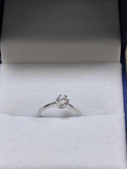 恒久之星 钻戒女雪花款求婚/订婚女戒/结婚戒指1克拉钻石 现货 PT950铂金30分DE 晒单图
